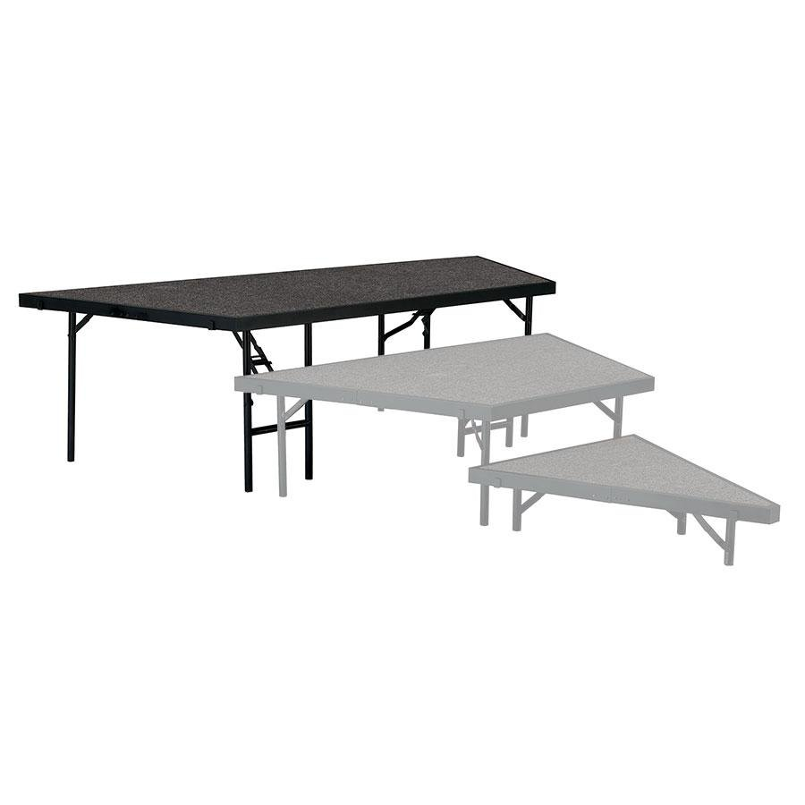 "National Public Seating SP4824C Portable Stage Pie Unit with Gray Carpet - 48"" x 24"""