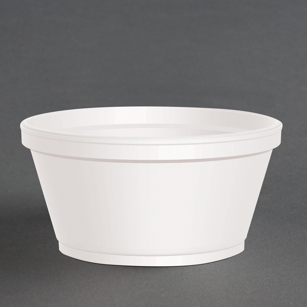 Dart 8SJ20 8 oz. Customizable Extra Squat White Foam Food Bowl 1000 / Case