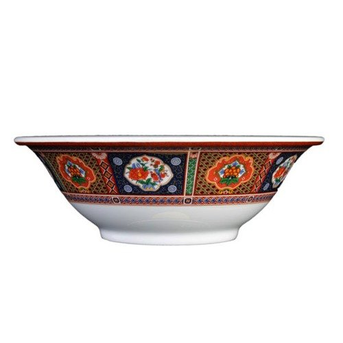 Peacock 34 oz. Round Melamine Deep Bowl - 12/Case