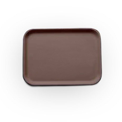 "Cambro 1622CT138 Tavern Tan Camtread Non-Skid Serving Tray 16"" x 22"" - 12 / Case"