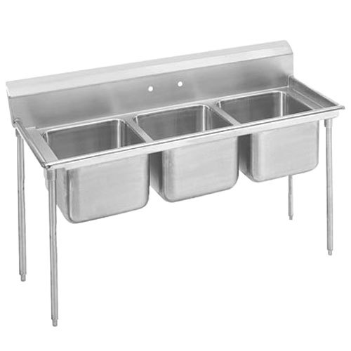 Commercial Sink 3 Compartment : ... Tabco T9-3-54 Three Compartment Stainless Steel Commercial Sink - 62