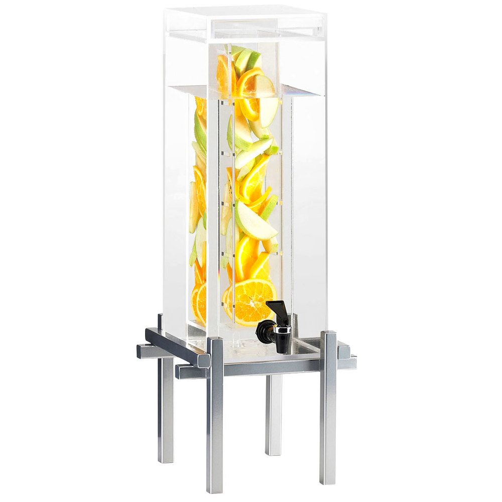 Cal-Mil 1132-1INF-74 Silver One By One 1.5 Gallon Beverage Dispenser with Infusion Core