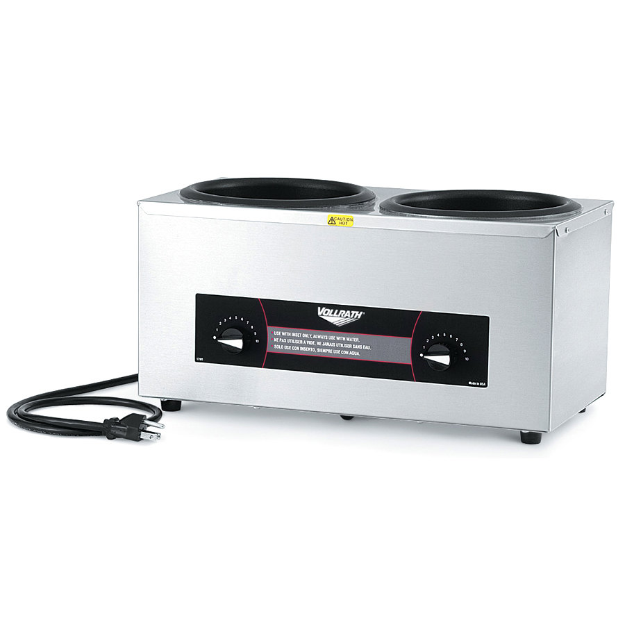 Vollrath 72045 Cayenne Twin 4 Qt. Countertop Warmer 120V