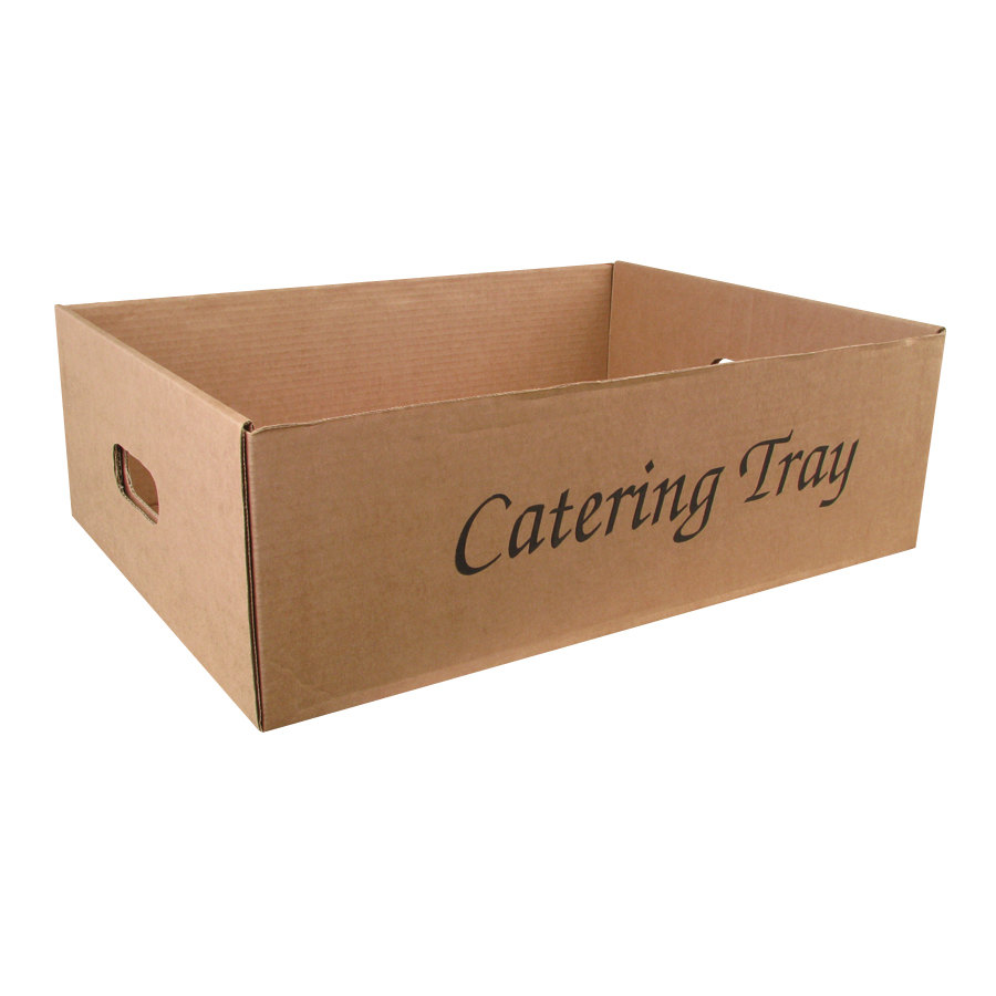 "22"" x 16 1/2"" x 7"" Corrugated Catering Tray 25/Case"
