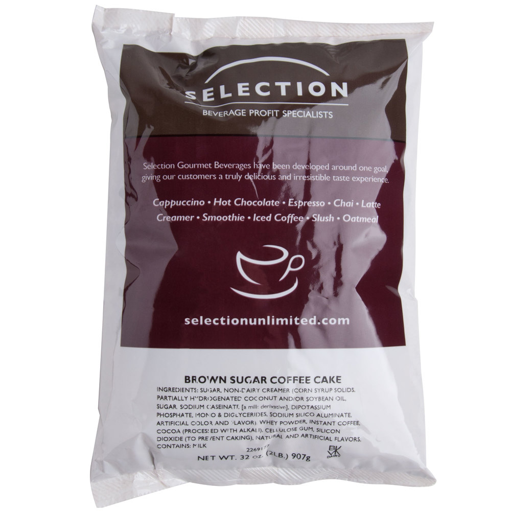 Brown Sugar Coffee Cake Cappuccino Mix - (6) 2 lb. Bags / Case