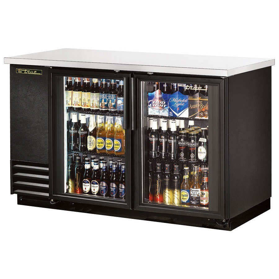 True TBB-2G 59 inch Glass Door Back Bar Refrigerator