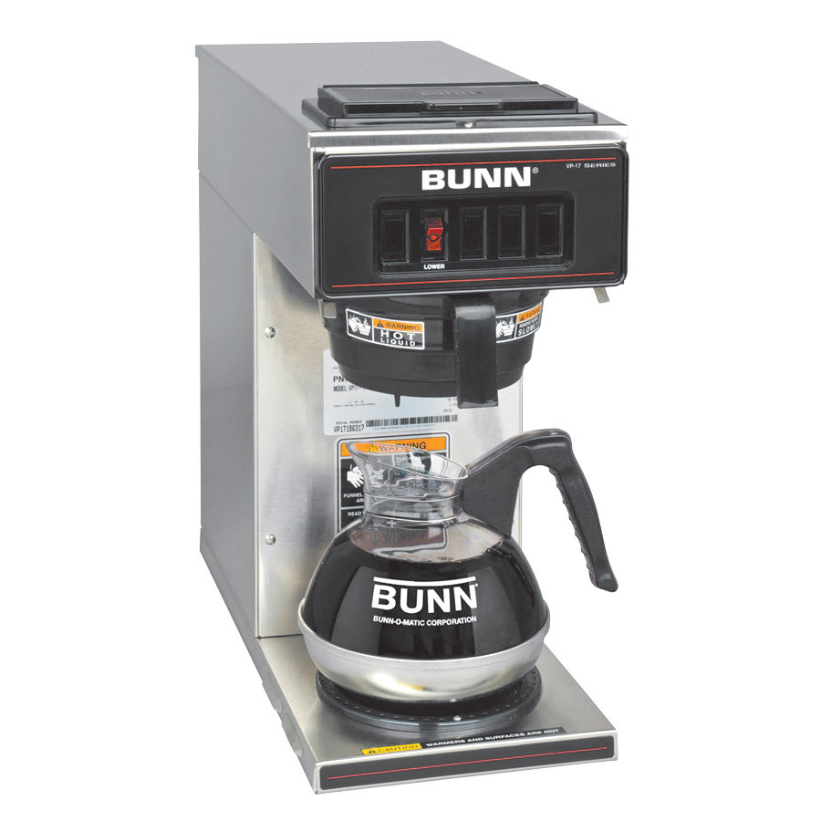 Bunn Vp17 1 Ss Pourover Coffee Brewer With 1 Lower Warmer
