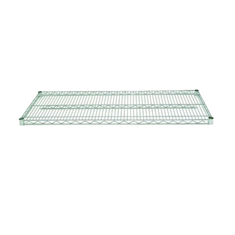 Advance Tabco EG-1442 14 inch x 42 inch NSF Green Epoxy Coated Wire Shelf