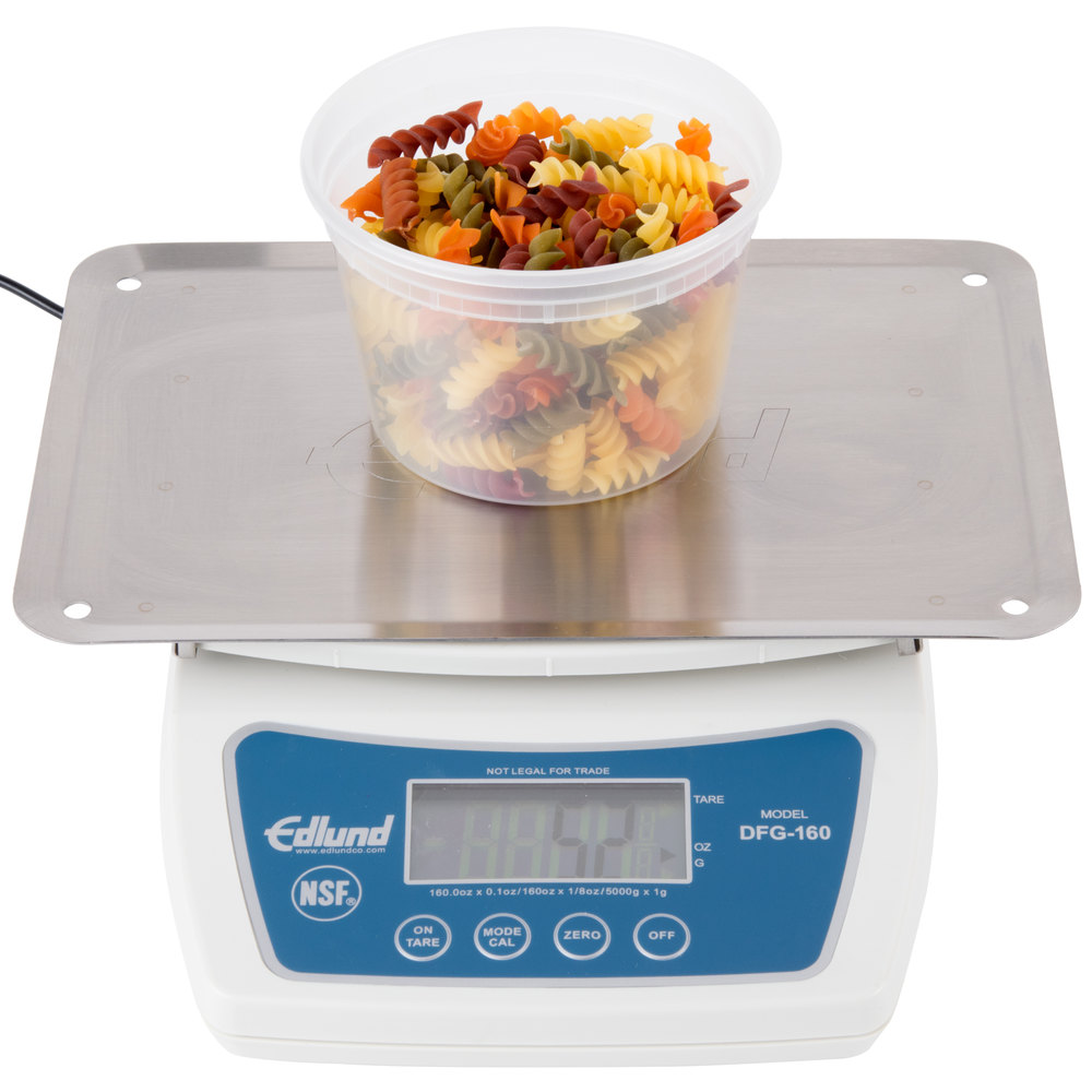 Edlund DFG-160OP 10 lb. Digital Portion Scale with Oversized Platform
