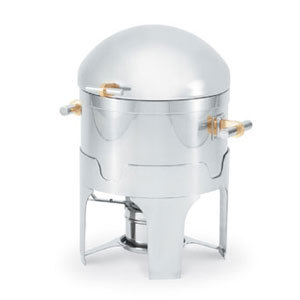 Vollrath 46095 2 1/2 Qt. New York, New York Sauce / Gravy Chafer with Brass Trim