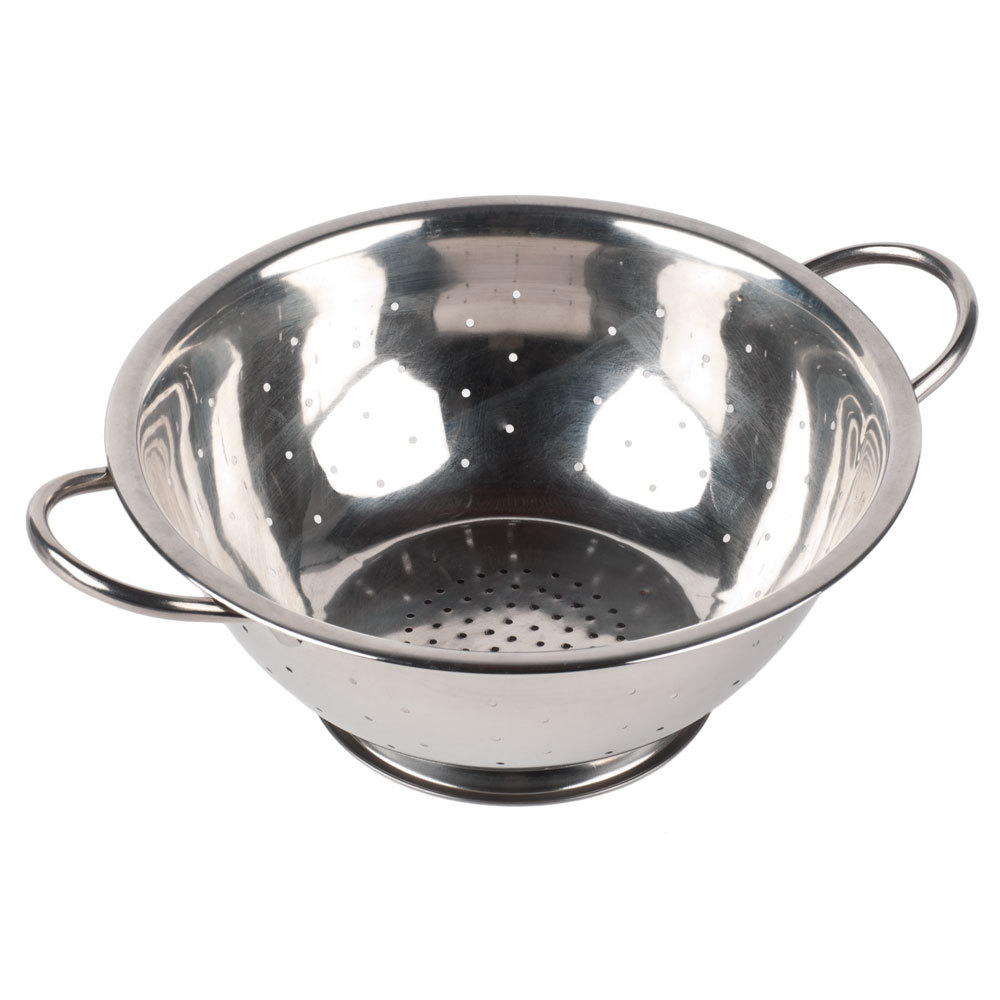 5 Qt Stainless Steel Colander With Base And Handles