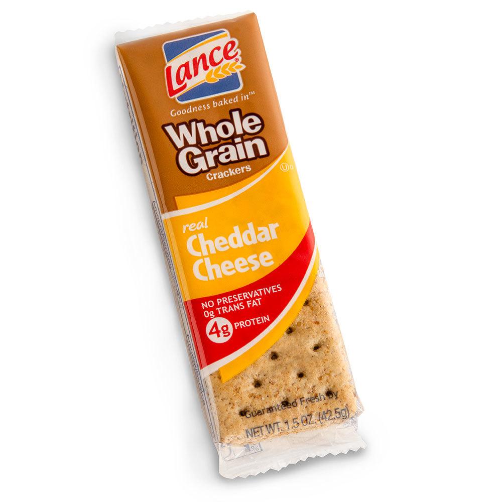 Lance Whole Grain Cheddar Sandwich Crackers - 6 Pack, 120 / Case