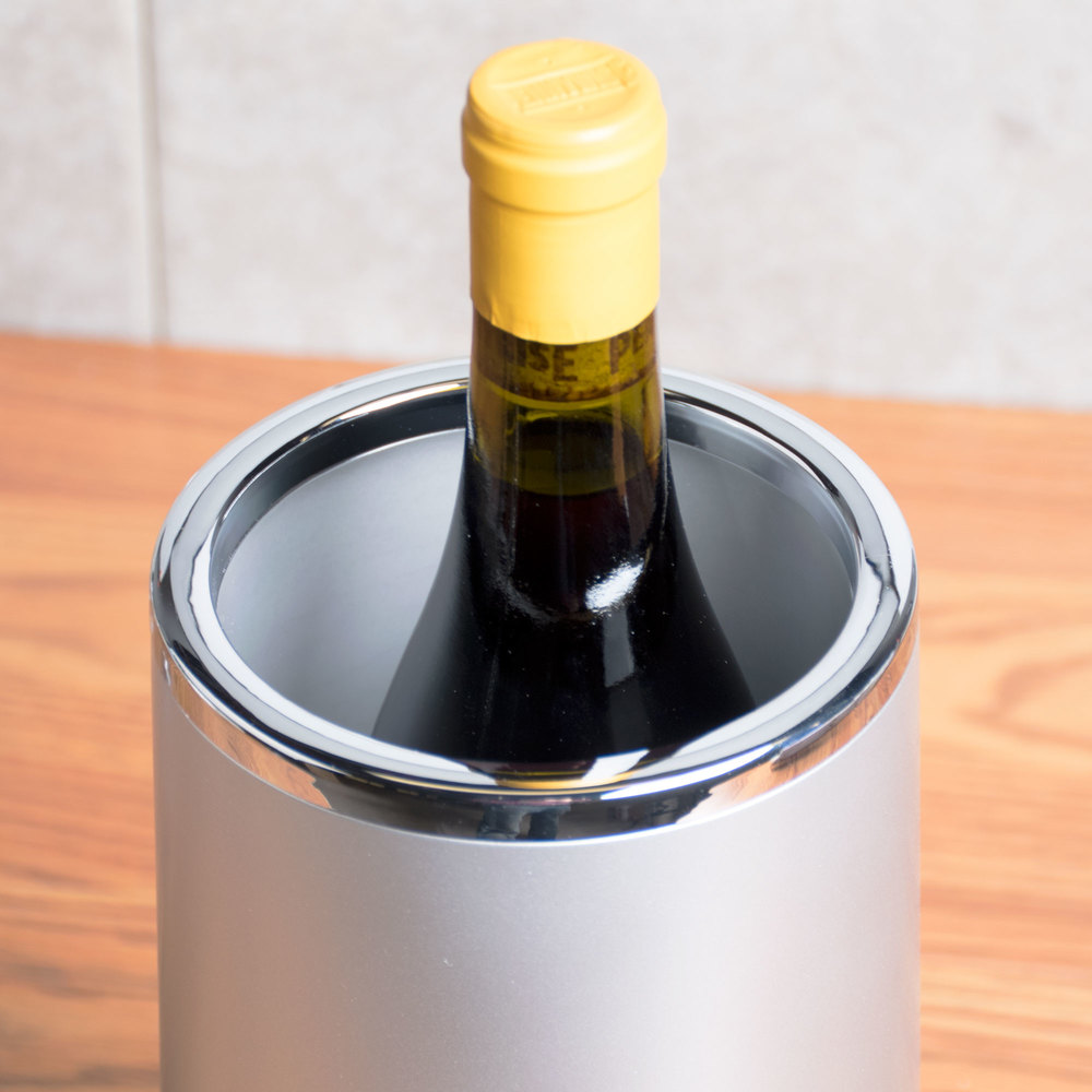 American Metalcraft WCFS462 Silver Acrylic Wine Cooler