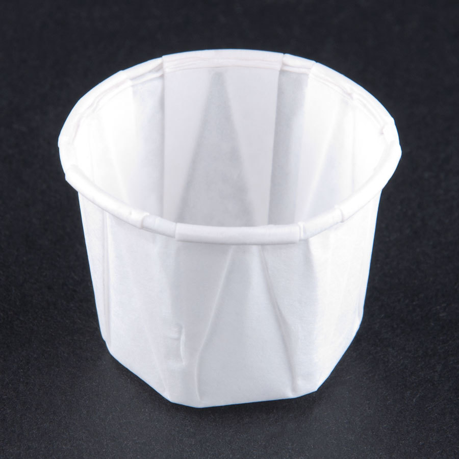 Solo SCC050 .5 oz. White Paper Souffle / Portion Cups 250/Box