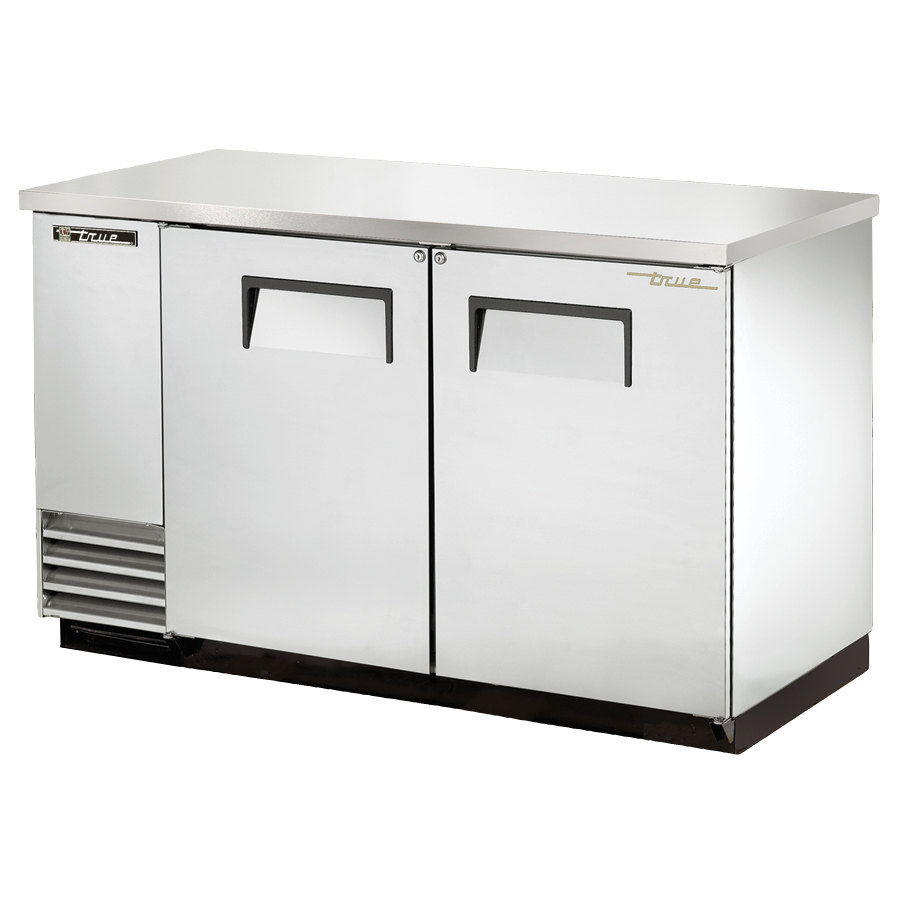 True TBB-2-S 59 inch Stainless Steel Back Bar Refrigerator