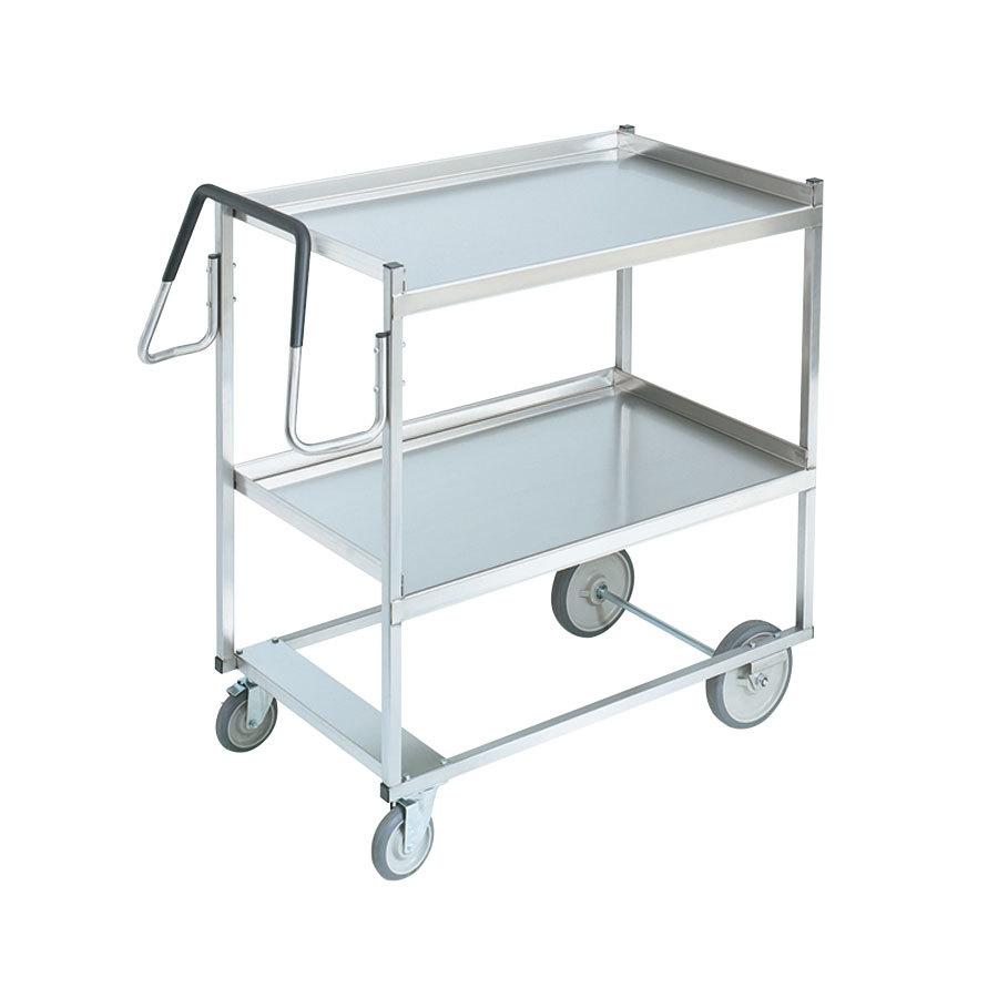 Metal Utility Cart: Vollrath 97200 Heavy-Duty Stainless Steel 2 Shelf Utility