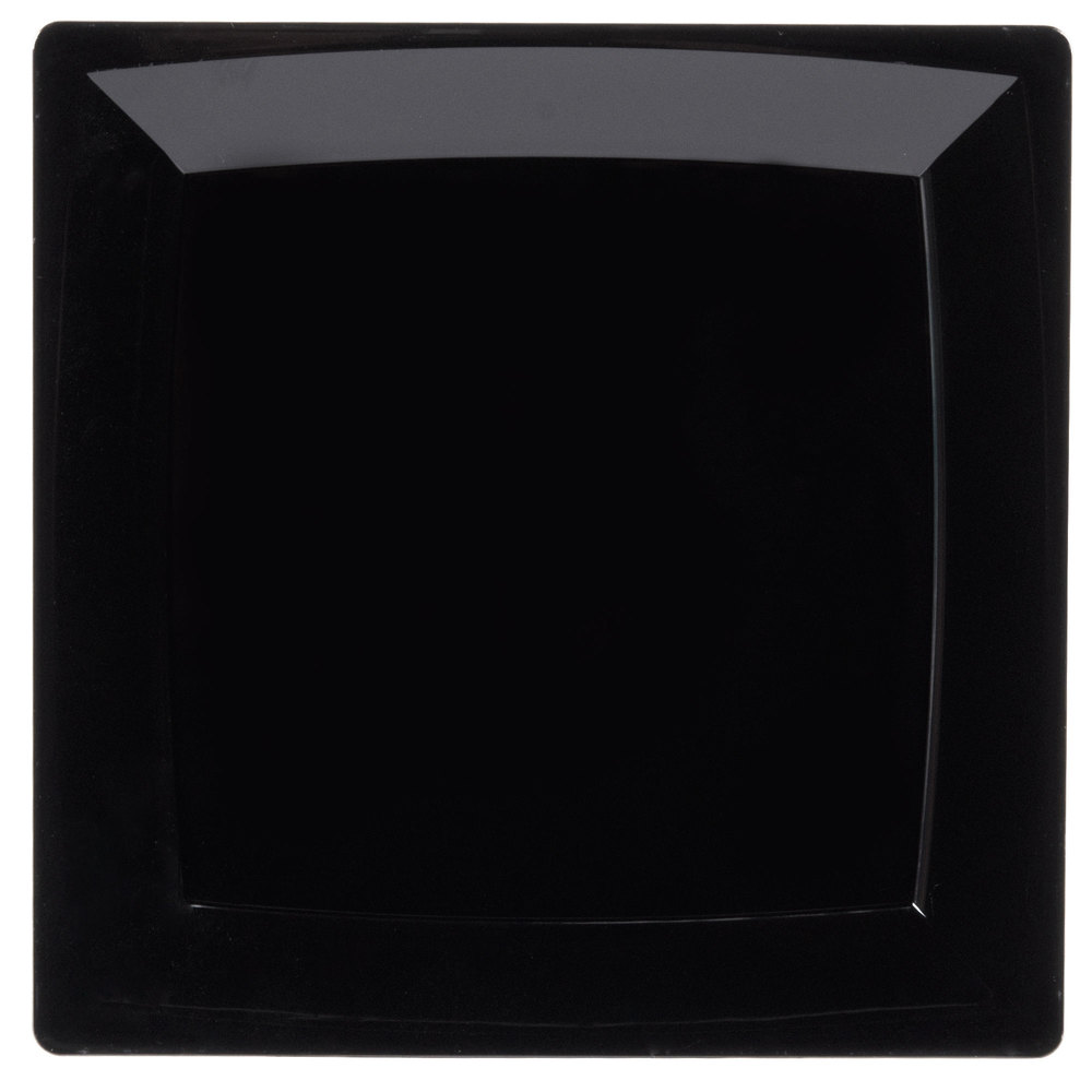 Wna Comet Ms10bk 9 1 4 Quot Black Square Milan Plastic Plate