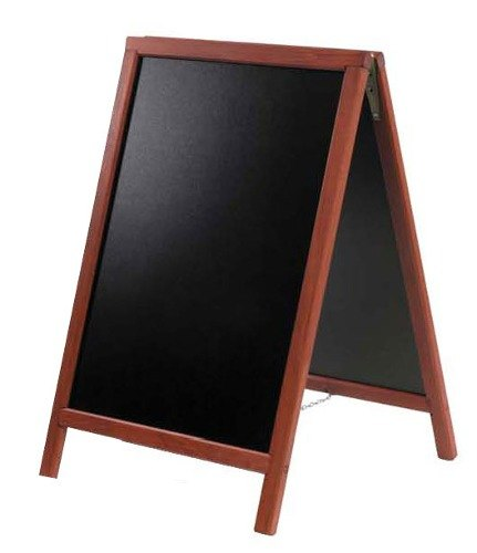 American Metalcraft Securit SBDM85 A-Frame Sign Board 22 inch x 34 inch Mahogany Finish