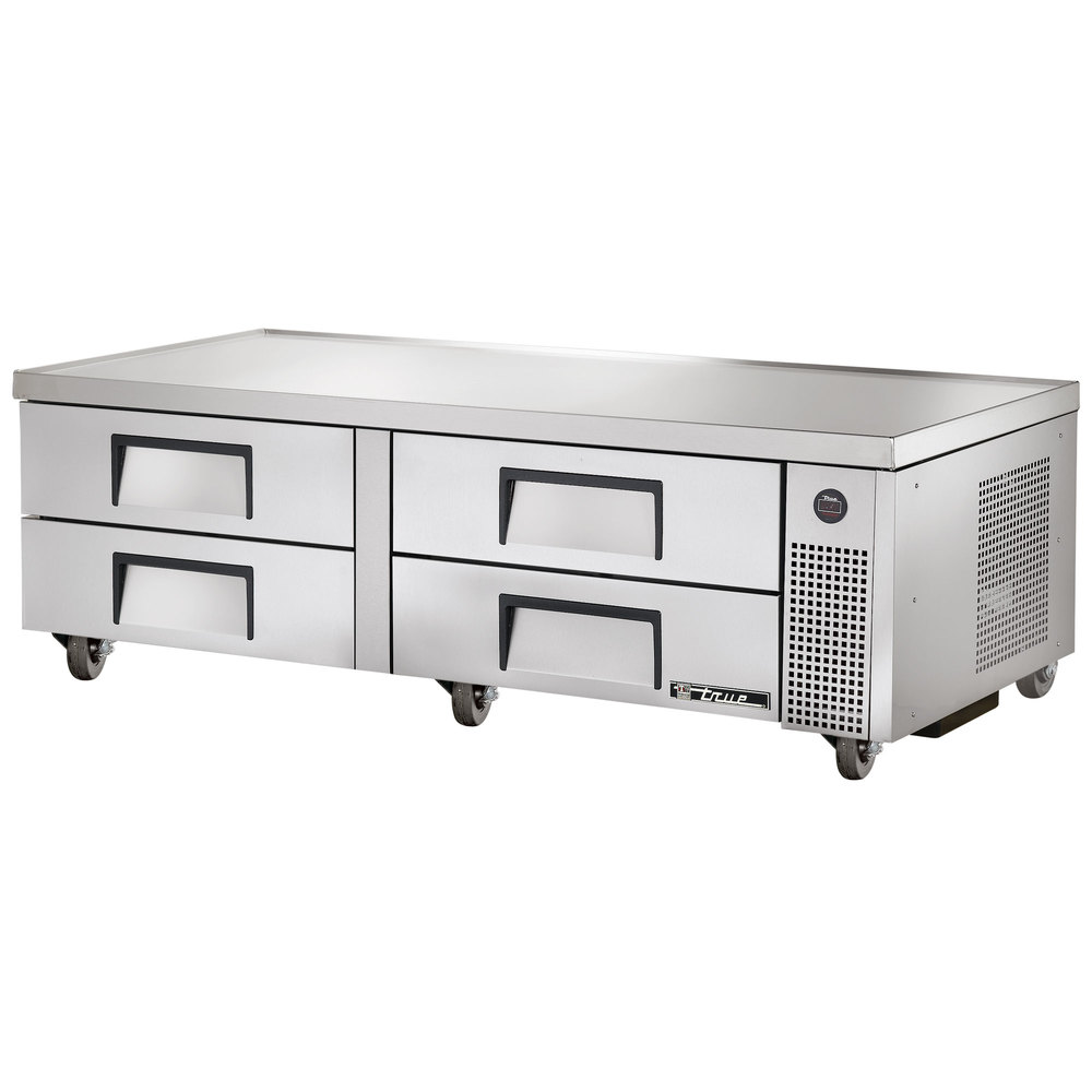 "True TRCB-72 72"" Four Drawer Refrigerated Chef Base"