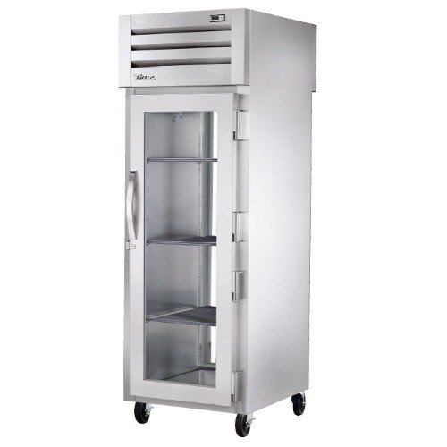 True STA1HPT-1G-1S Specification Series Glass and Solid Door Pass Through Heated Holding Cabinet