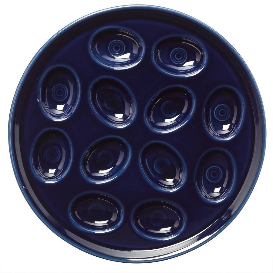 Homer Laughlin 724105 Fiesta Cobalt Blue 11 1/4 inch Egg Tray - 4 / Case
