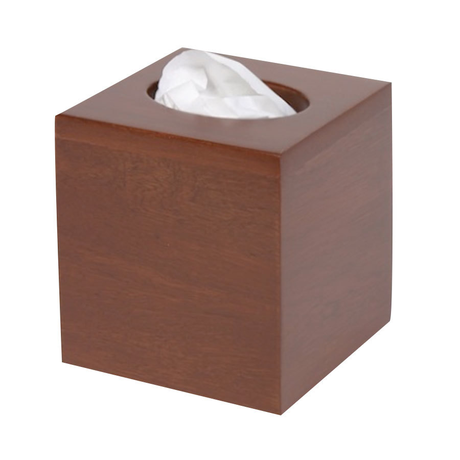 Wooden Tall Tissue Box Cover