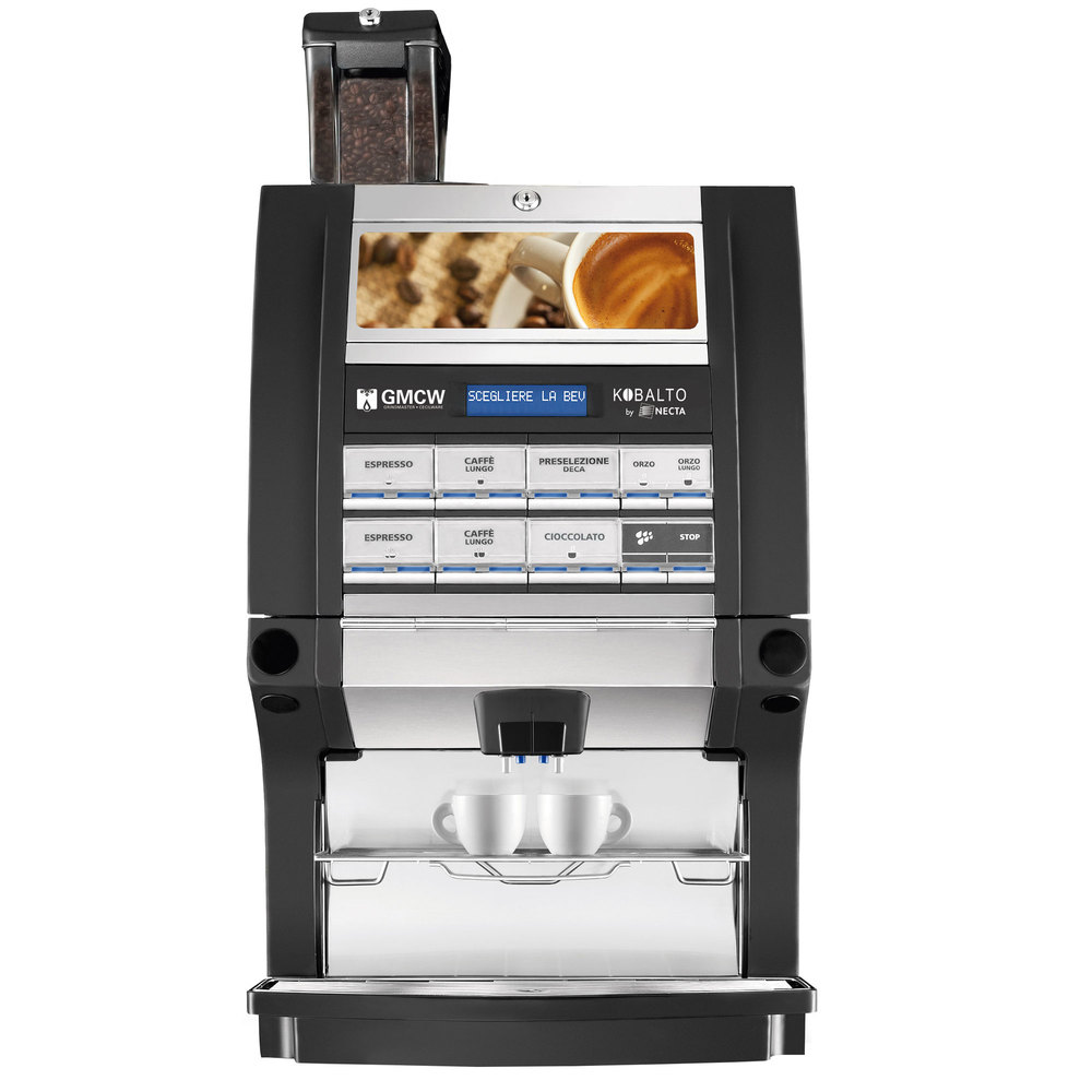 Grindmaster 66103 Kobalto 2/2 FM Super Automatic Espresso Machine with Two Bean Hoppers and Two Soluble Hoppers