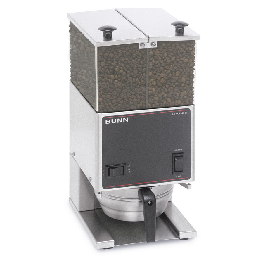 Bunn 26800.0001 LPGE Low Profile 6 lb. Double Hopper Grinder with 4