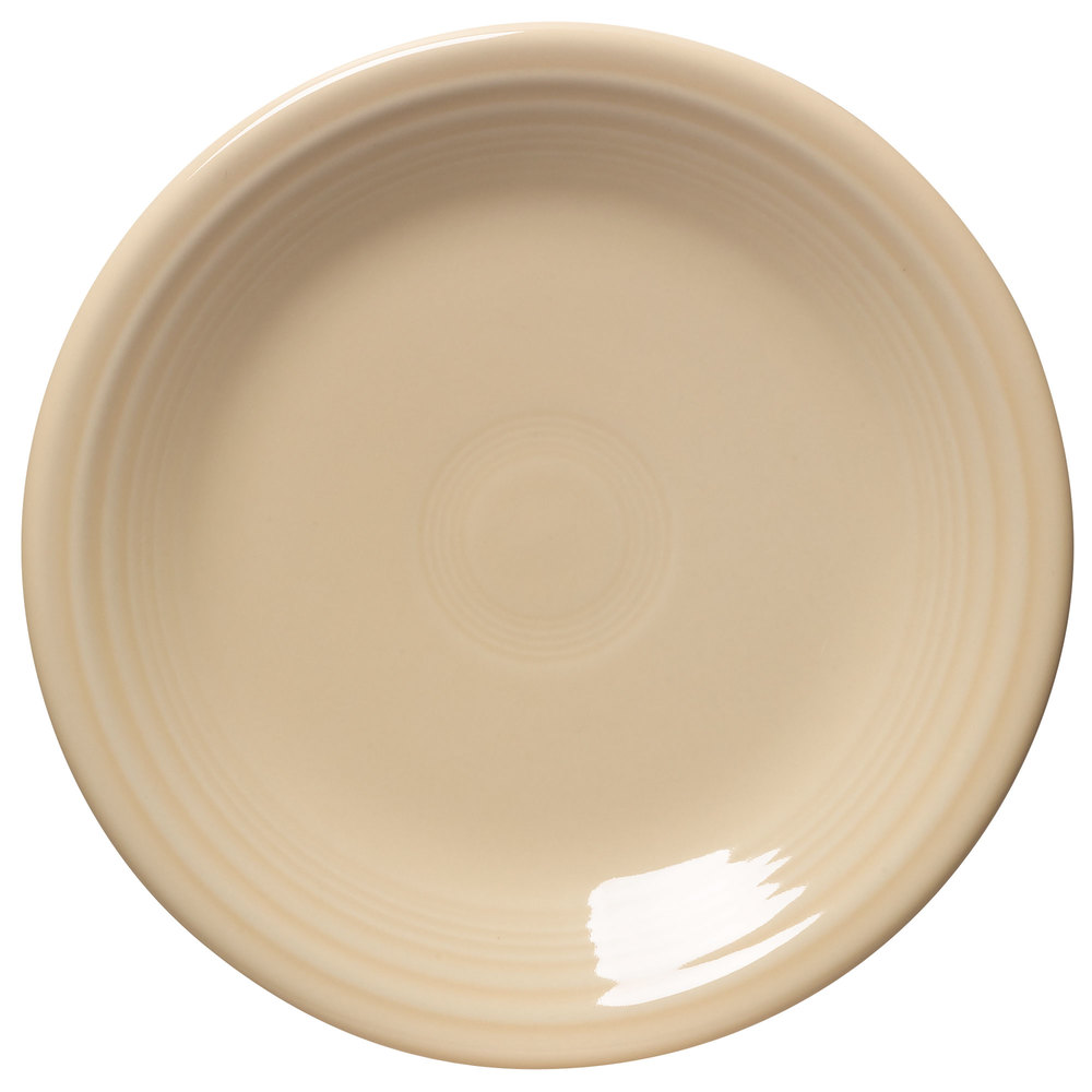 "Homer Laughlin 464330 Fiesta Ivory 7 1/4"" Salad Plate - 12/Case"
