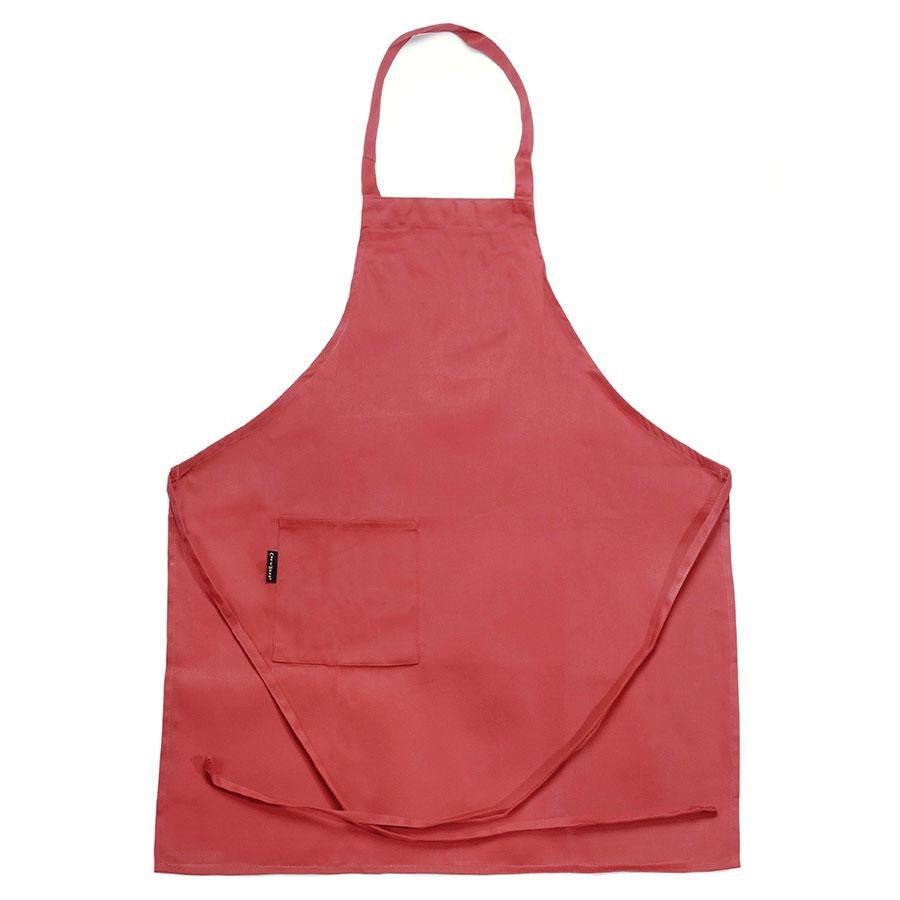 Chef Revival 601BAC-RD Full-Length Red Bib Apron – 30 inch x 34 inch
