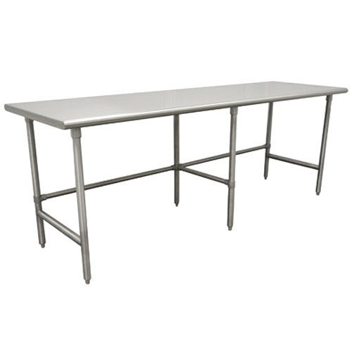 "Advance Tabco TSS-4810 48"" x 120"" 14 Gauge Open Base Stainless Steel Commercial Work Table"