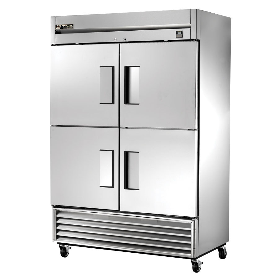 ts f hc stainless steel two section solid half door reach true ts 49f 4 hc 54 stainless steel two section solid half door reach in zer 49 cu ft