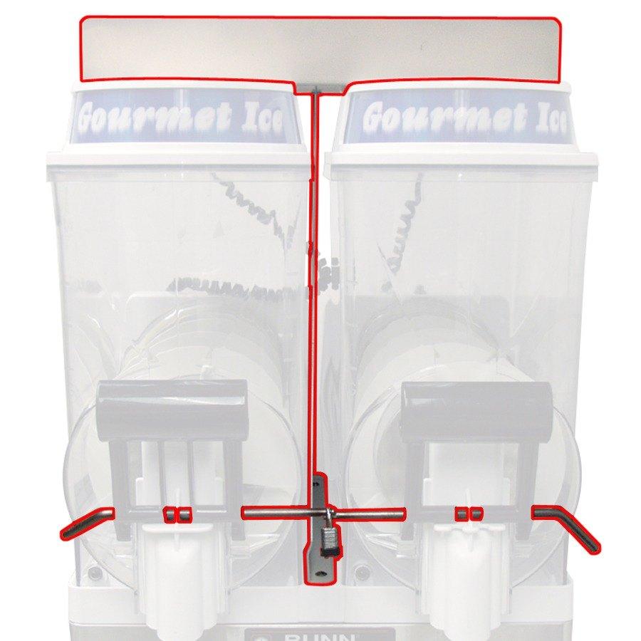 Bunn Lid Lock and Handle Kit for White Bunn Ultra-2 Granita / Slushy Frozen Drink Machines (Bunn 34996.0002) at Sears.com