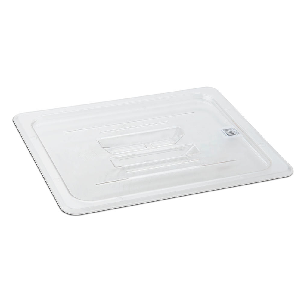 Half Size Food Pan Lid with Handle - Clear Polycarbonate