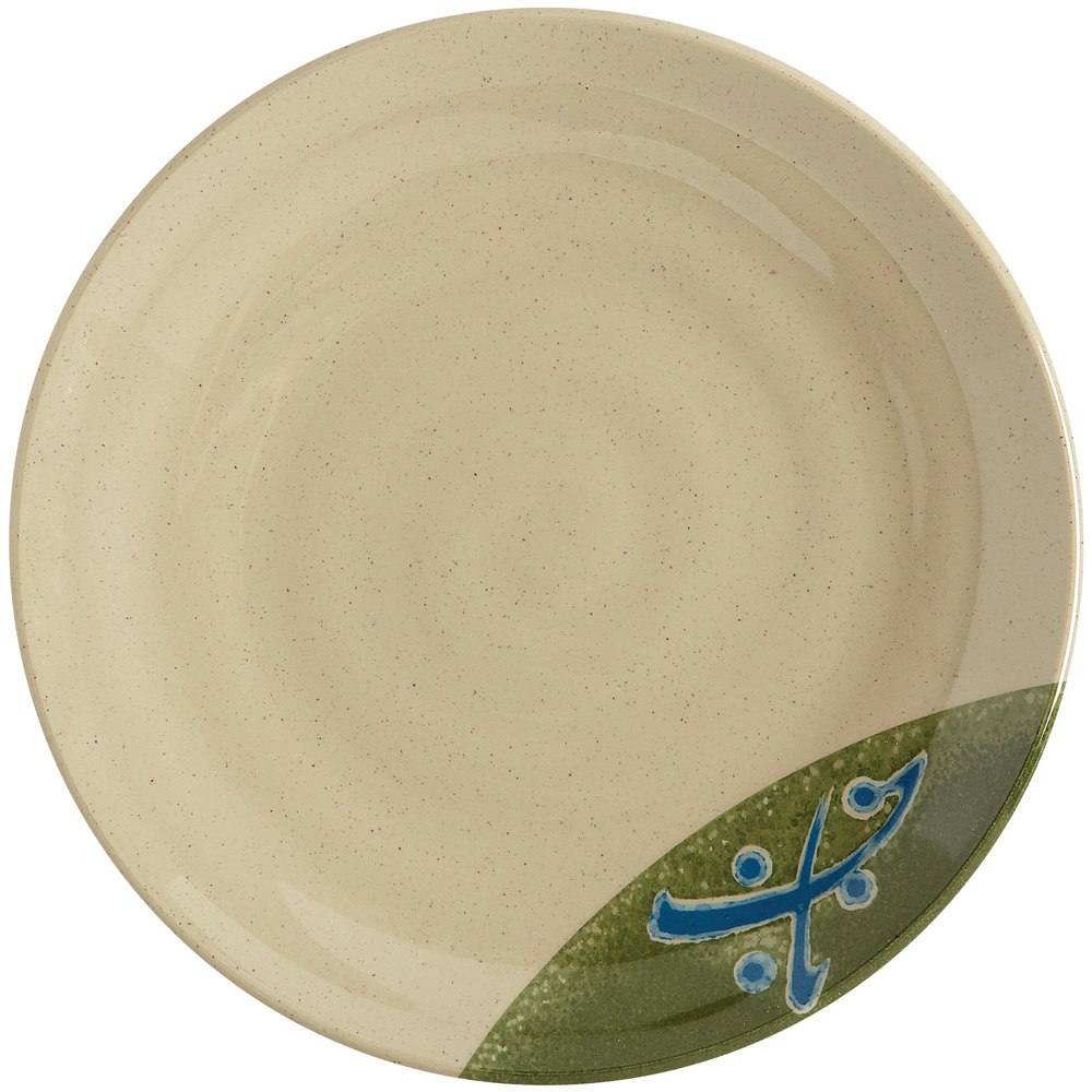 "GET 207-70-TD Japanese Traditional 7"" Plate with Swirl Texture 12 / Case"