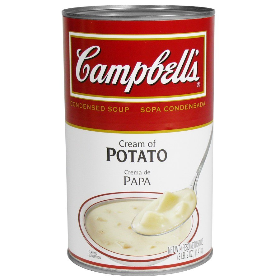 Campbell's Cream of Potato Soup Condensed 12 - 50 oz. Cans / Case