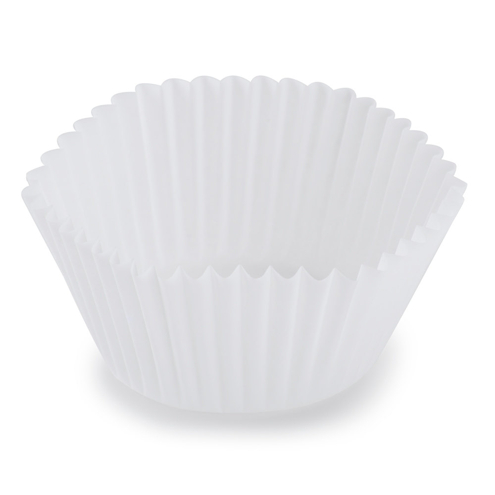 "Hoffmaster 610031 1 7/8"" x 1 5/16"" White Fluted Baking Cup 10,000/Case"