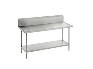 """Advance Tabco 14 Gauge Advance Tabco VKG-368 Spec Line Work Table with Galvanized Undershelf and 10"""" Backsplash - 36"""" x 96"""" at Sears.com"""