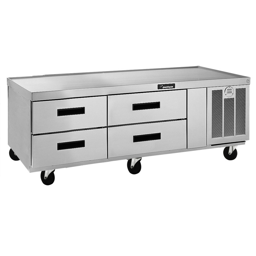 "Delfield F2962C 62"" Four Drawer Refrigerated Chef Base"