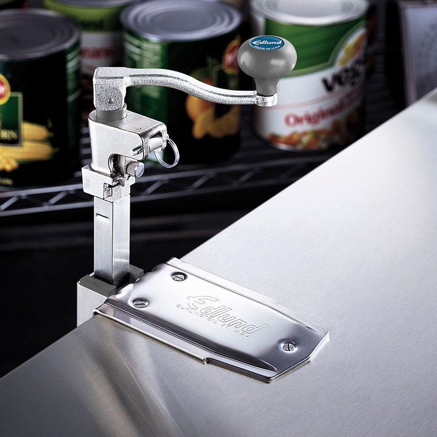"Edlund G-2 CL #2 Manual Can Opener with 22"" Adjustable Bar and Cast Stainless Steel Clamp Base at Sears.com"
