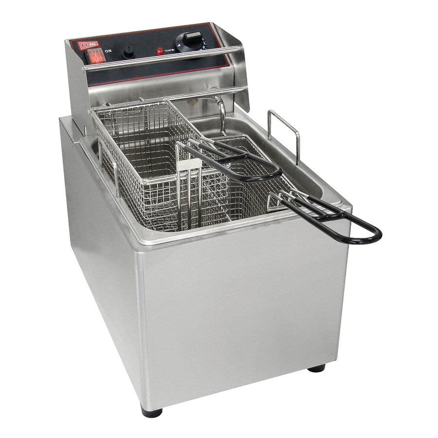 Grindmaster Cecilware Cecilware EL15 Stainless Steel Electric Commercial Countertop Deep Fryer with 15 lb. Fry Tank - 120V, 1800W at Sears.com