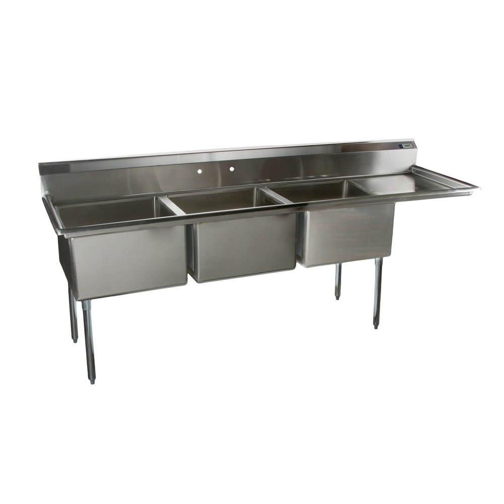 Stainless Sink Table : Regency Tables And Sinks 16 Gauge Regency Three Compartment Stainless ...