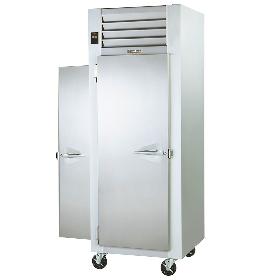 Traulsen G14315P 1 Section Pass Thru Solid Door Hot Food Holding Cabinet with Left / Right Hinged Doors