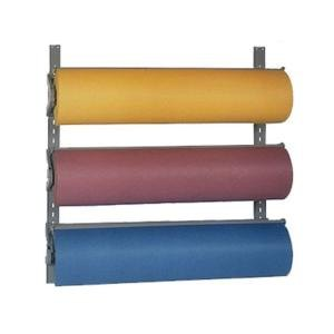"Bulman T292-36 36"" Horizontal Three Paper Roll Wall Rack"