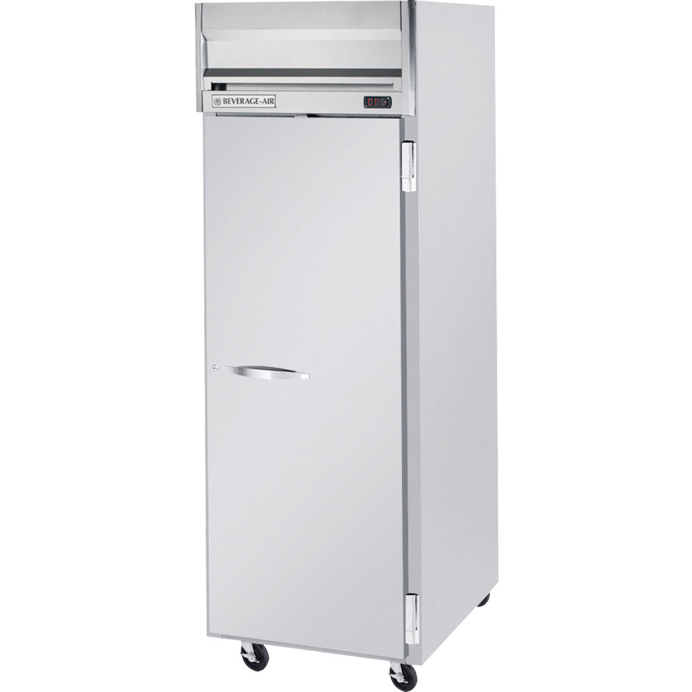 "Beverage Air HR1-1S 26"" Horizon Series One Section Solid Door Reach-In Refrigerator - 24 cu. ft."