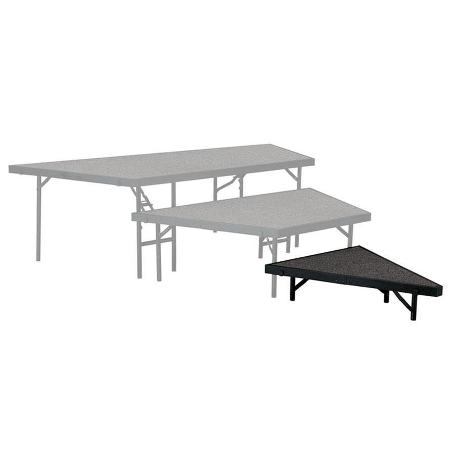 "National Public Seating SP488C Portable Stage Pie Unit with Gray Carpet - 48"" x 8"""