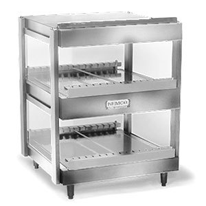 Nemco 6480-18 Stainless Steel 18 inch Horizontal Double Shelf Merchandiser - 120V