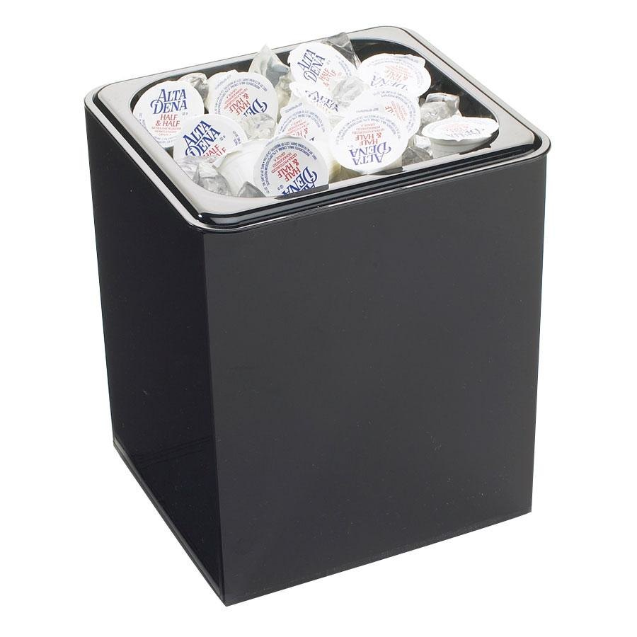 Cal Mil 641 Classic Black Icer / Waste / Packet Holder – 6 1/2 inch x 6 inch x 8 inch