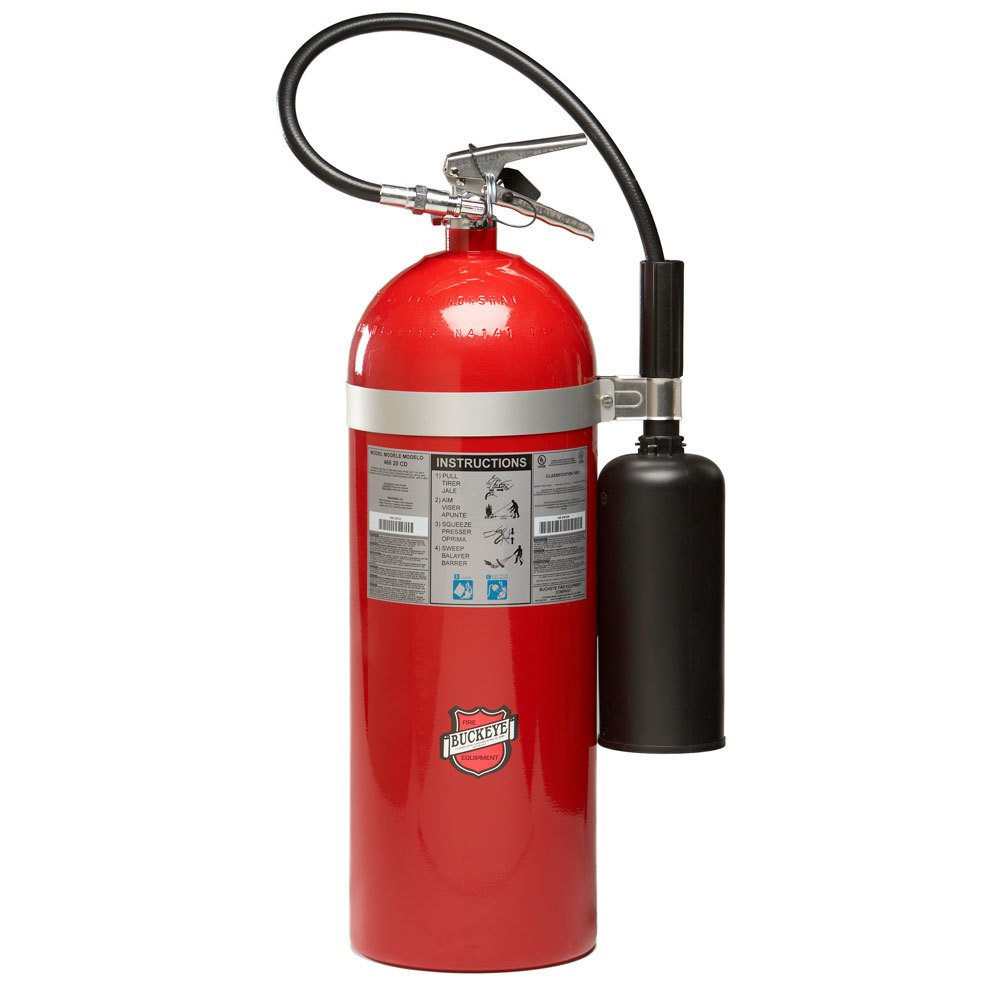 Buckeye 20 Lb Carbon Dioxide Bc Fire Extinguisher Rechargeable Untagged Ul Rating 10 B C