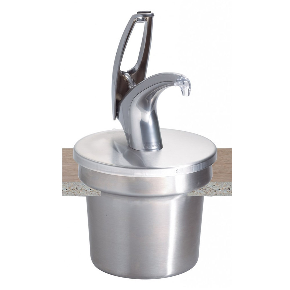 San Jamar P4710 Frontline EZ Clean Condiment Pump with Metal Finish